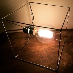 GIANO DESIGN -  Lampada in metallo QBO, lampada, lampadario, applique con lampadina decorativa